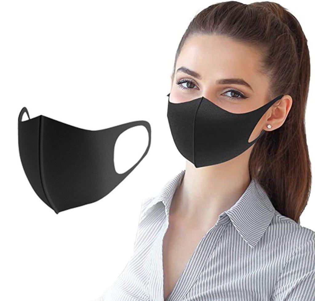 La fibra de carbono de la cara exterior anti-Haze Cara Ligera careta boca del polvo 1pcs de algodón máscaras de protección solar transpirables