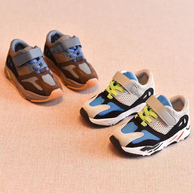 Весна и осень новая мода повседневная тенденция толстая подошва Детская обувь дикая удобная корейская версия дышащей детской обуви
