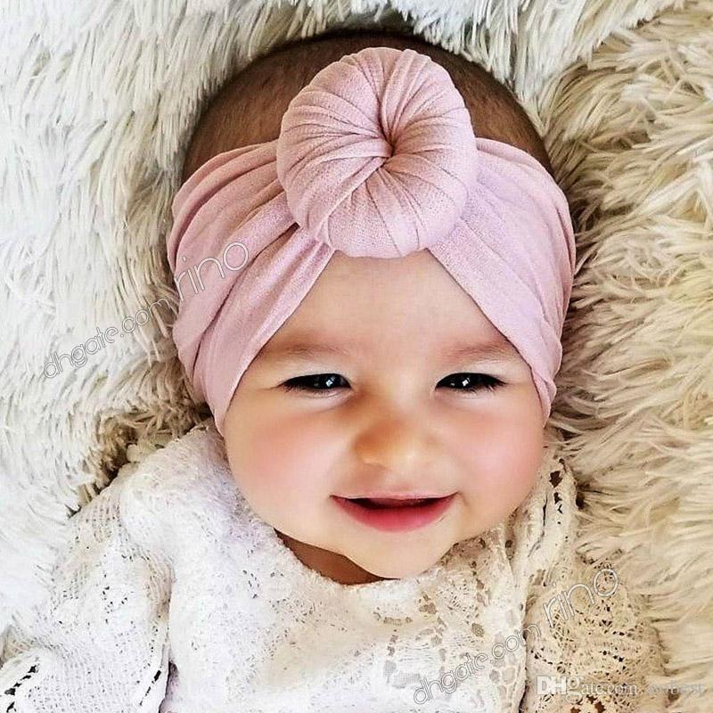 Filles bébé coton Bow bandeau Stretch turban noeud tête Wrap pour les EnfantsIAS