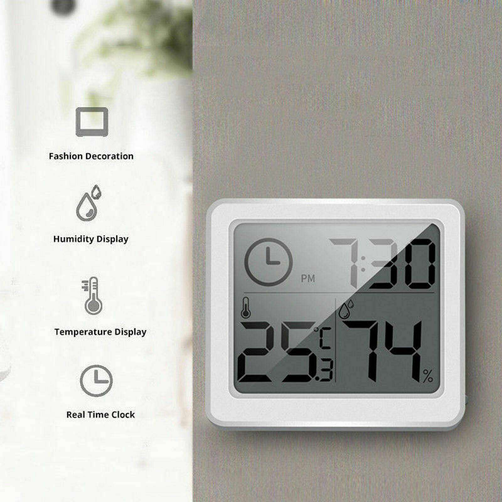 2020 Digital Lcd Thermometer Hygrometer Humidity Meter Room Indoor Temperature Clock From Wangxiaofeng806 6 37 Dhgate Com