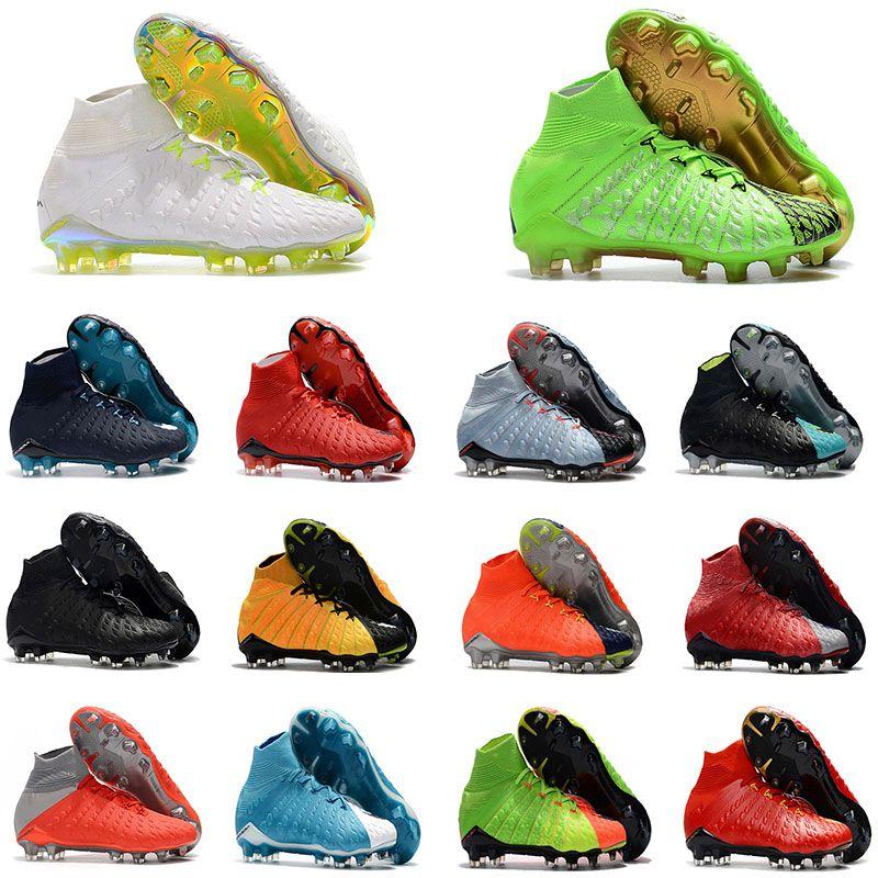 mens soccer cleats Hypervenom Phantom III EA Sports FG soccer shoes soft ground football boots cheap Rising Fast Pack neymar boots
