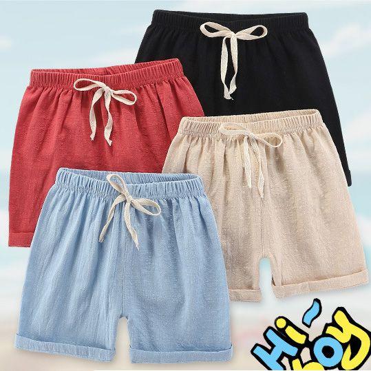 أزياء الأطفال السراويل 2020 الصيف الانفجار الطفل الصلبة لون السراويل للأطفال بنين بنات عارضة السراويل الشاطئ السراويل للأطفال الساخن بيع