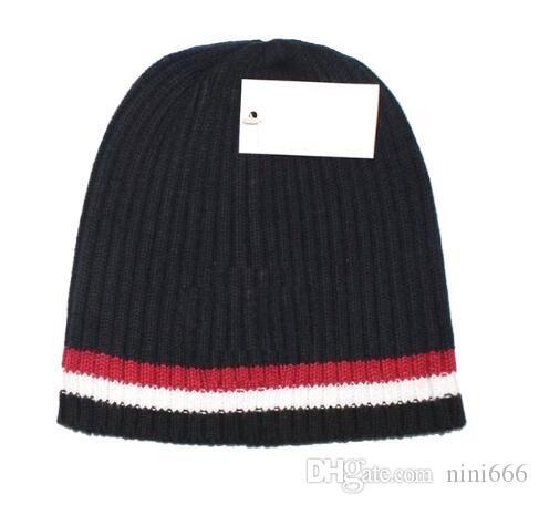 فاخر قبعة الشتاء بيني عارضة الدافئة الصلبة القبعات التريكو القطن سكولي للرجال والنساء سميكة قبعات دافئة الأزياء تزلج قبعة صغيرة Gorro بونيه