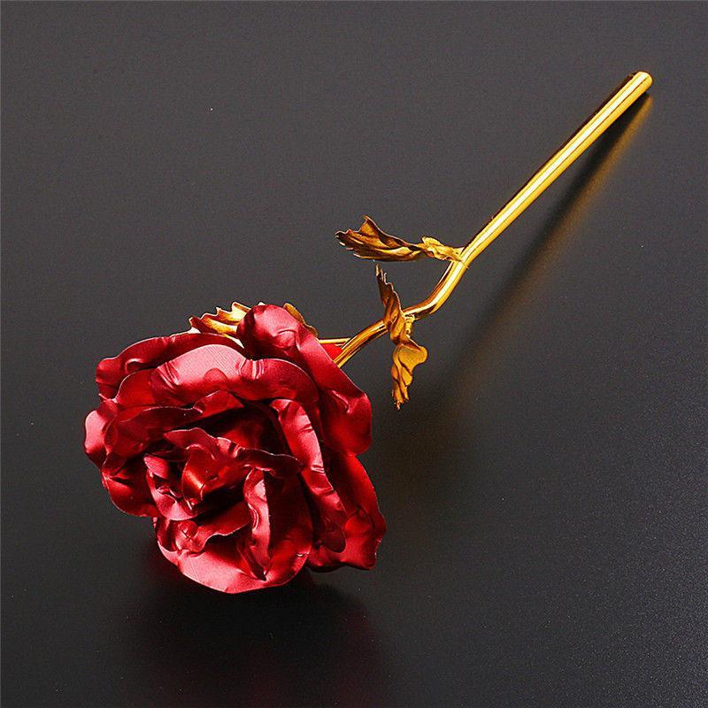 Hot Multi-Cor banhado Rose Flores artificiais Dia dos Namorados Festival de fornecimentos românticos Decoração amante amigo melhor presente