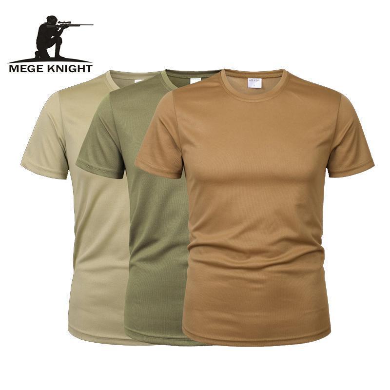 Büyük Boy Moda Kurşun 3 PcsMen Kamuflaj Taktik Tişörtlü Ordu Askeri ShortSleeve O-boyun Hızlı Kurutma jimnastik T Gömlek Casual