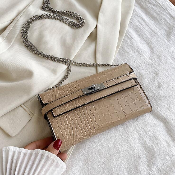 wholesale women handbag mini leather wallet street trend crocodile chain bag new embossed leather shoulder bag Joker leather long wallet