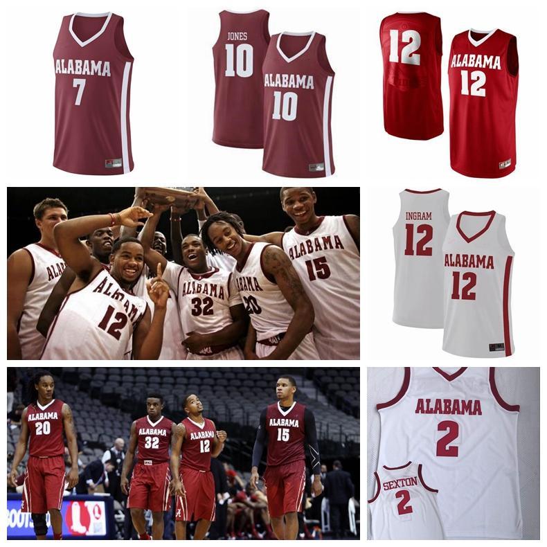 Alex Reese Alabama Crimson Tide Basketball Jersey - White