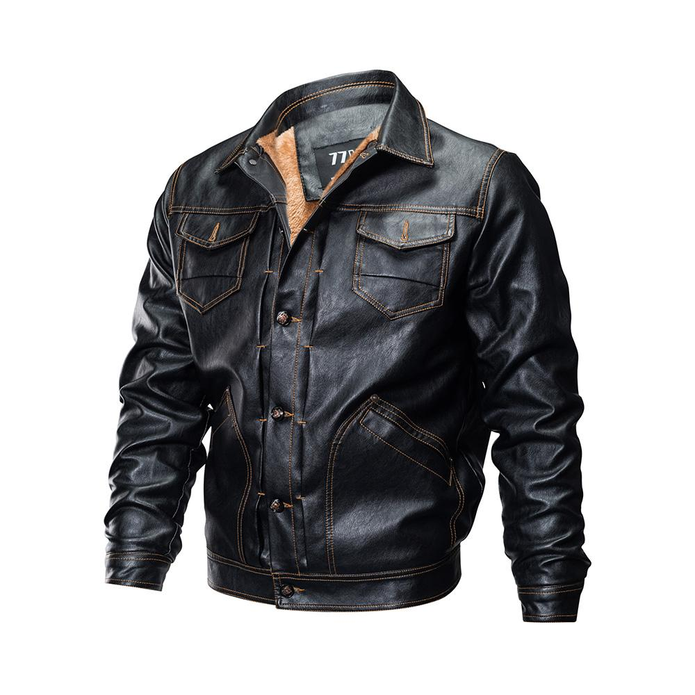 Gothic Plus Size Faux leather Jacket Long Sleeve 2018 Stand Collar Slim Shirt Casual Cothes Black PunkJacket