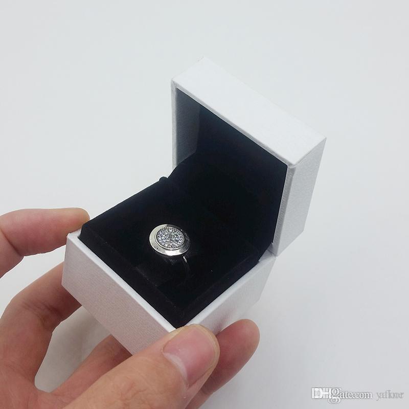 NOVA Clássica 18 K Rose anel de Casamento de ouro Definir Logotipo Caixa Original para Pandora 925 Sterling Silver CZ Anéis de Diamante para As Mulheres meninas