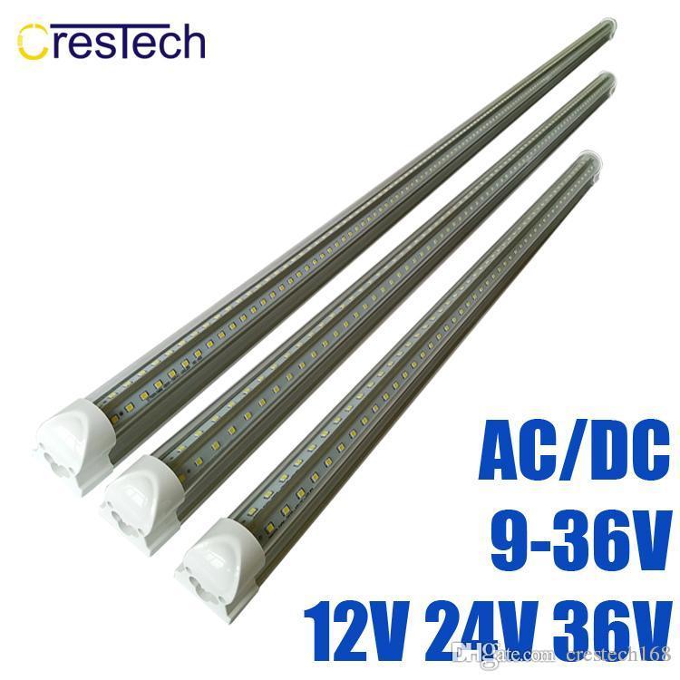 1 24В фута светодиодные трубки T8 18Вт интеграции более низкого напряжения тока DC12V светодиодные трубки свет холодный белый 6000-6500K 36В кулер светодиодные фонари люминесцентных ламп