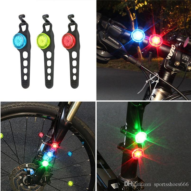 Durable Silicone Wheel LED Flash Light For Bike Night Safety Cycling Waterproof