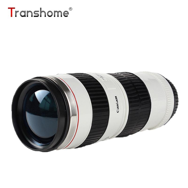 Transhome Camera Lens Mug Creative Stainless Steel Thermos Mug Coffee Cup Portable Vacuum Flask Mugs For Tea Travel Coffee Cup J190723