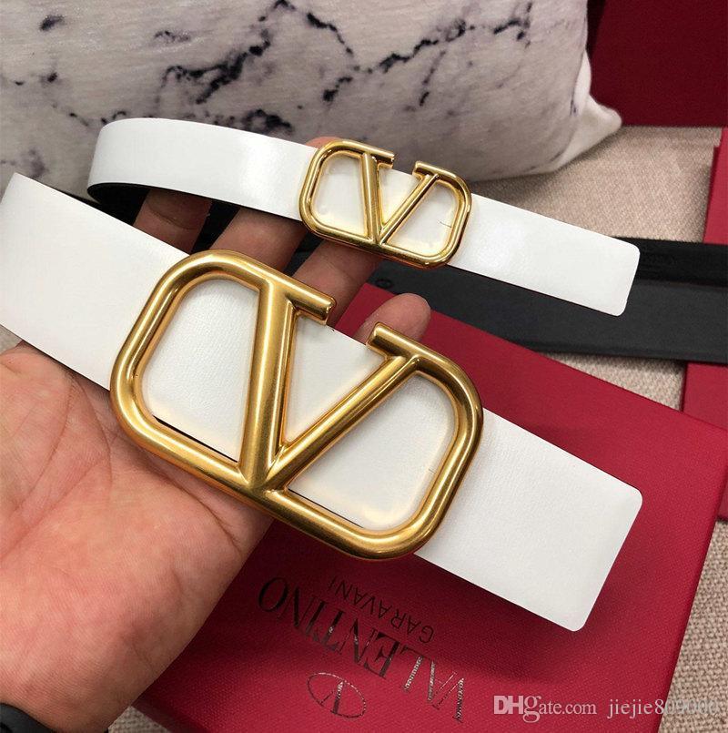 2,0 et 4,0 cm 2019 femmes ceintures de marque ceinture de marque ceinture de luxe pour les hommes boucle de ceinture supérieure ceintures de cuir des hommes de mode avec boîte