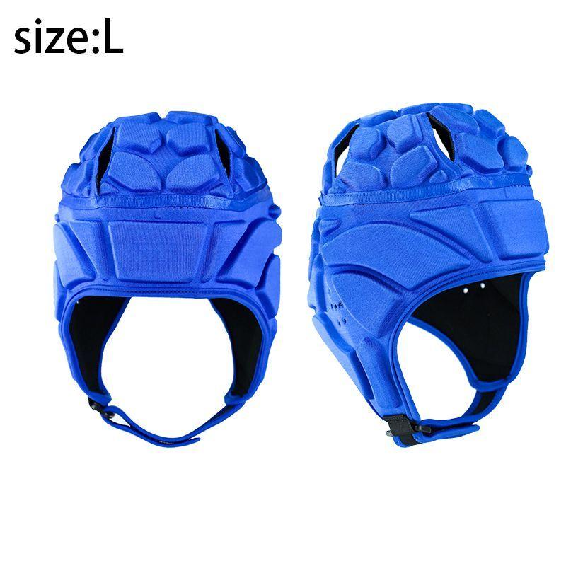 Aolikes 3 colori di sport degli uomini Portiere regolabile Portiere di calcio del casco Caschetto di protezione Supporto Sport Accessori Copricapo