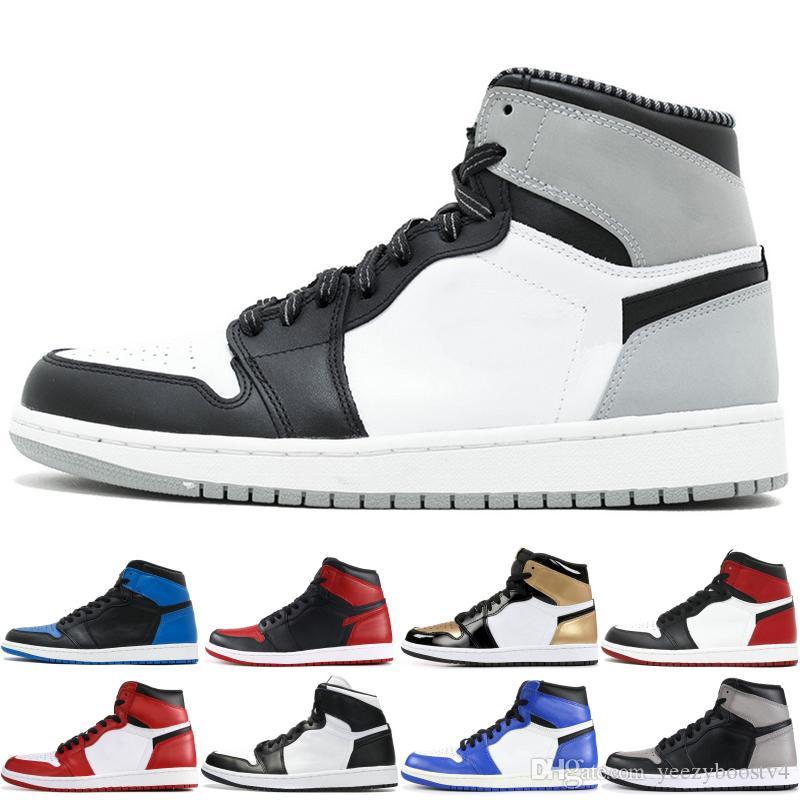2019 Prohibido nike air jordan retro 1 OG para hombre Zapatillas de baloncesto Juego Royal Homage To Home Triple Negro Clásico Zapatillas deportivas de deporte Tamaño 40-48