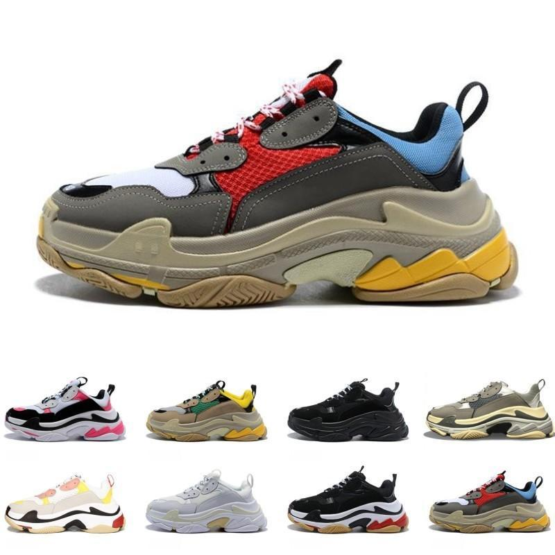 2019 Fashion Paris 17FW Sneaker Triple-S Triple S Designer Shoes Papa simple de femme Homme Noir Sport Tennis Chaussure de course 36-45