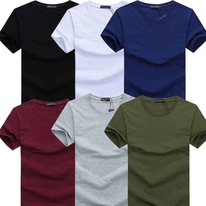 TEXIWAS 2019 6pcs / lot neue Art und Weise Marke O-Ansatz dünner Kurzarm T-Shirt Männer Trend beiläufiges Mens-T-Shirt Korean T Shirts 4XL 5X Y200611