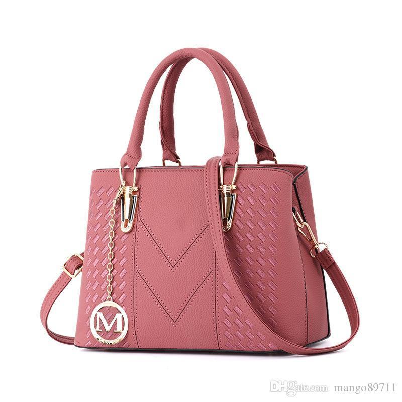 Women's Vintage Leather Tote Shoulder Bag for Women Crossbody Bags Ladies Designer Purse Black Red Grey Khaki Pink Purple