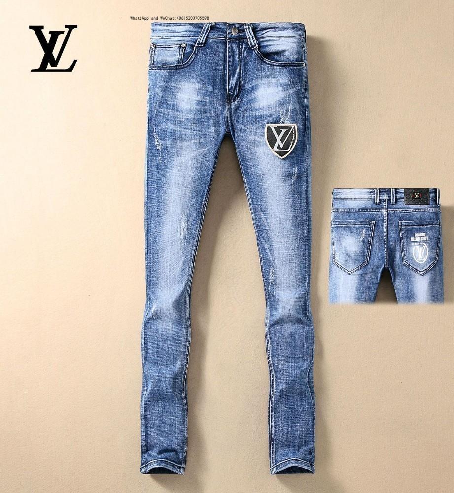 52811 Europa Plastic Man Jeans Retro blu Piccolo rettilineo Calzoni da cowboy