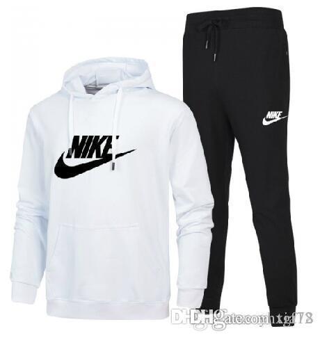 Full Zip Trainingsanzug Männer-Sportklage der Männer weiße preiswerte Männer-Sweatshirt und Hose Anzug Kapuze und Hose Set sweatsuit Männer