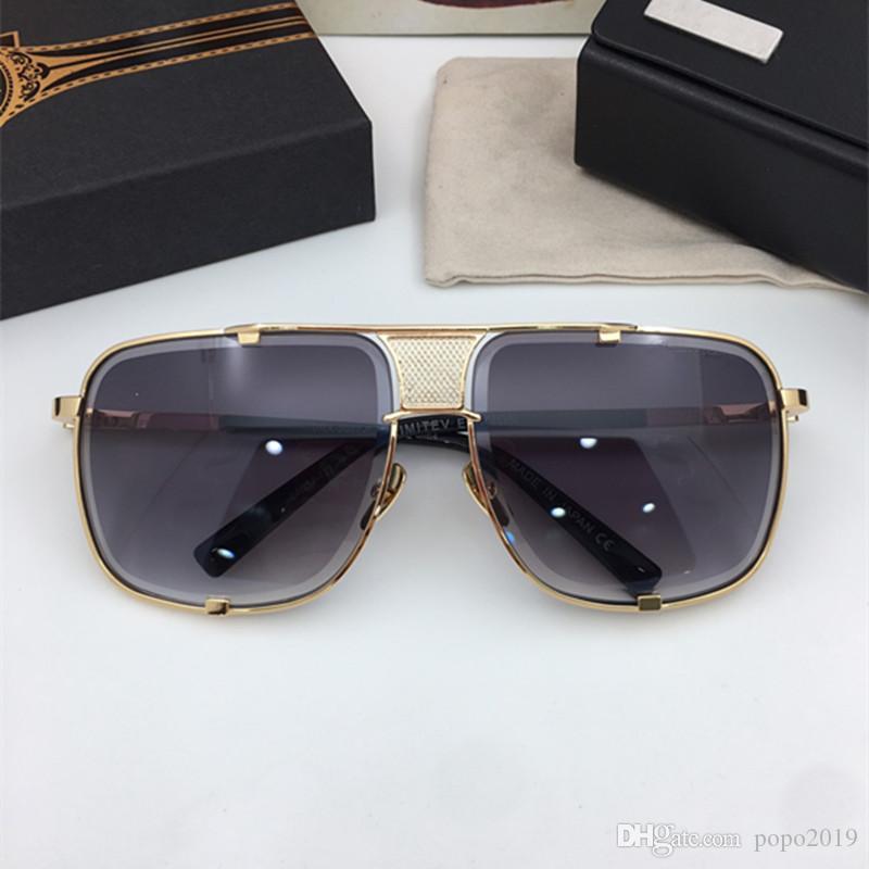 نظارات شمسية الرجل الرجل مصمم النظارات الشمسية النظارات الشمسية 005 2087 مصمم النظارات مصمم الرجال الفاخرة حماية نظارات الشمس فوق البنفسجية 400 مع عدسة مربع
