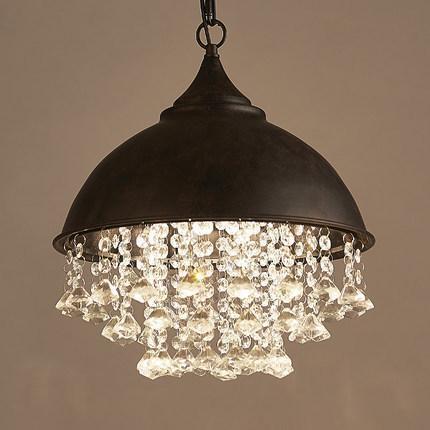 Acquista Americano Retrò Loft Lampadario In Cristallo Di Stile Vintage LED  Lampade Soggiorno Sala Da Pranzo Lampada A Sospensione Illuminazione ...