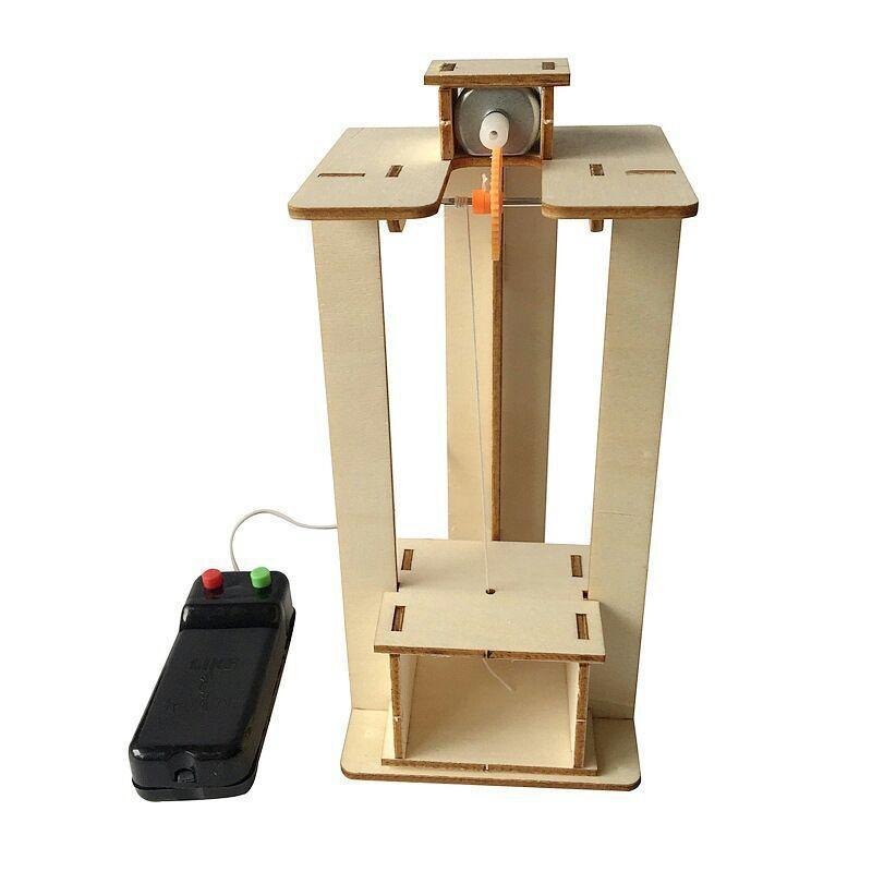 المصعد نموذج المصعد اليد تجميع عدة الأطفال تكنولوجيا الإنتاج الصغيرة العلوم تجربة اللعب