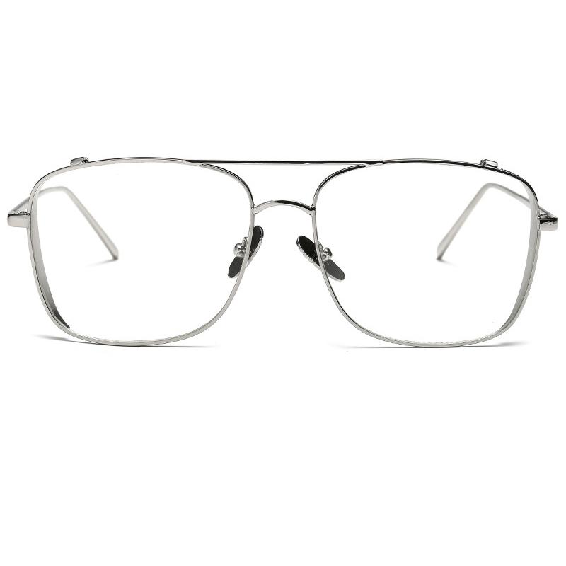 Atacado-ALOZ MICC mais novo dos homens óculos de armação Mulheres Ouro Limpar Óculos Designer Metal Frame Ladies Eyewear Quadro 2018 A463