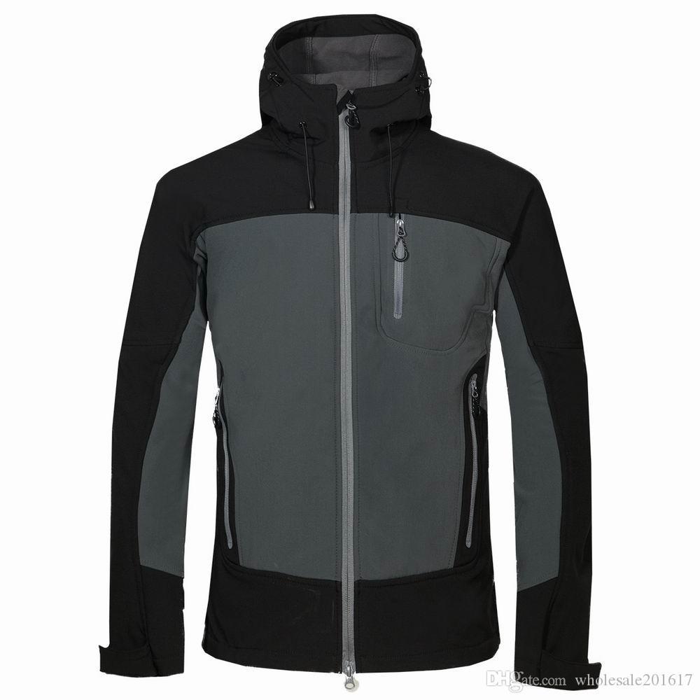 nuovi uomini HELLY giacca invernale con cappuccio Softshell per antivento e impermeabile morbido cappotto Shell Jacket HANSEN Giacche Cappotti 1716