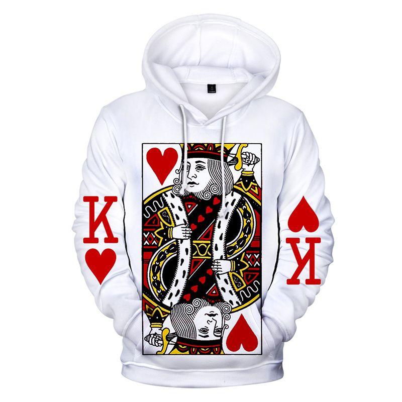 Poker Funny 3D Print Casual Sweatshirt Men Women Sweater Hoodies Pullover Tops