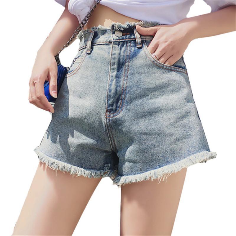 الأزياء الخام Selvedge جينز قصير المرأة سروال جينز عادية فضفاض فام 151 #