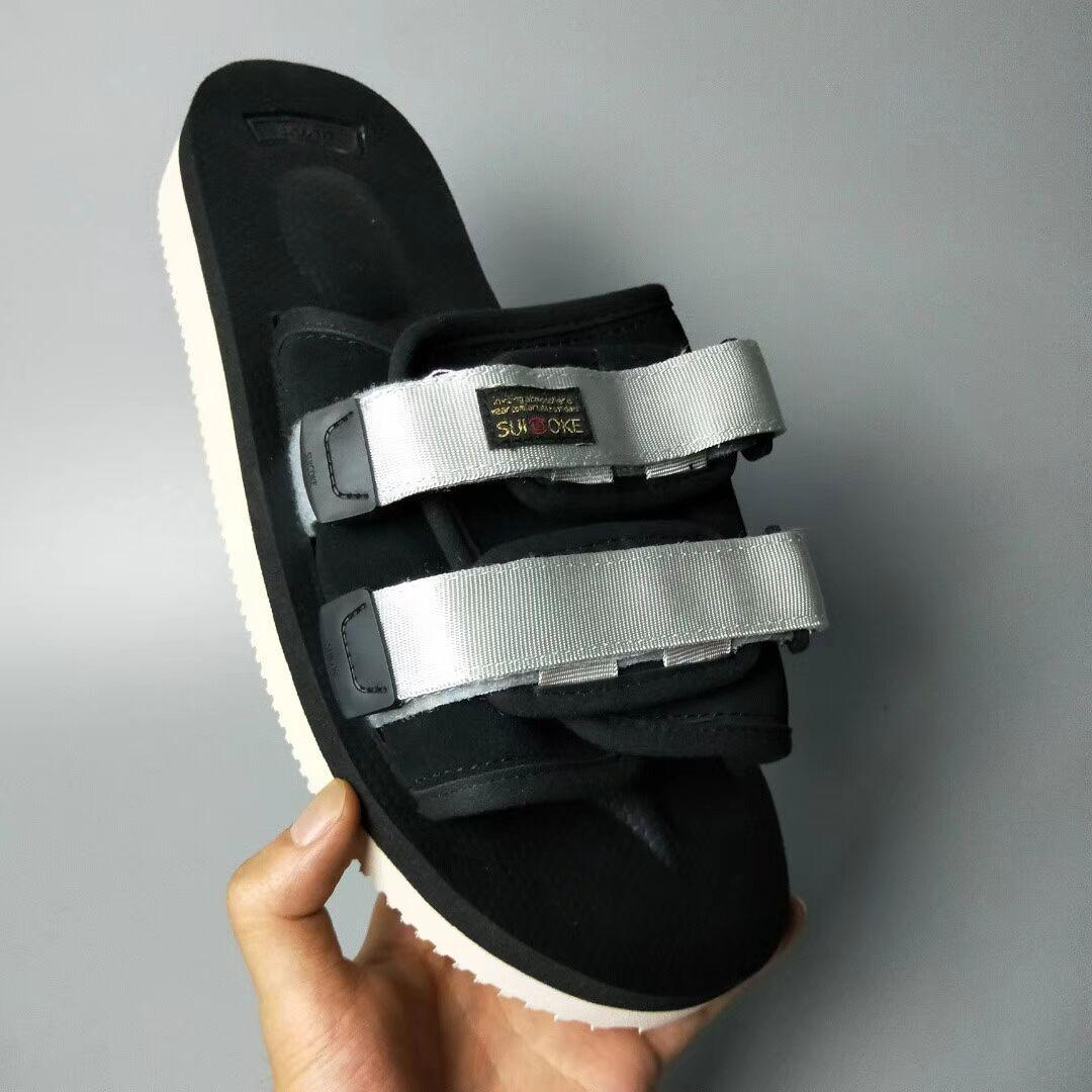 Top Quality Red CLOT X COKE OG-056STU MOTO-STU Summer Trip Fest Black silk Sole Sandal Slides SUICOKE KISEEOK-044V Slippers n49
