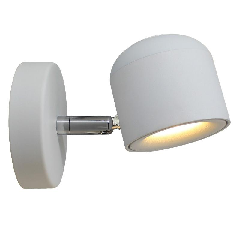 NEW Modern Simple COB 7W AC85-265V Black White Adjustable Head Aluminum Led Wall Light for Hotel Room Indoor Drop Shipping