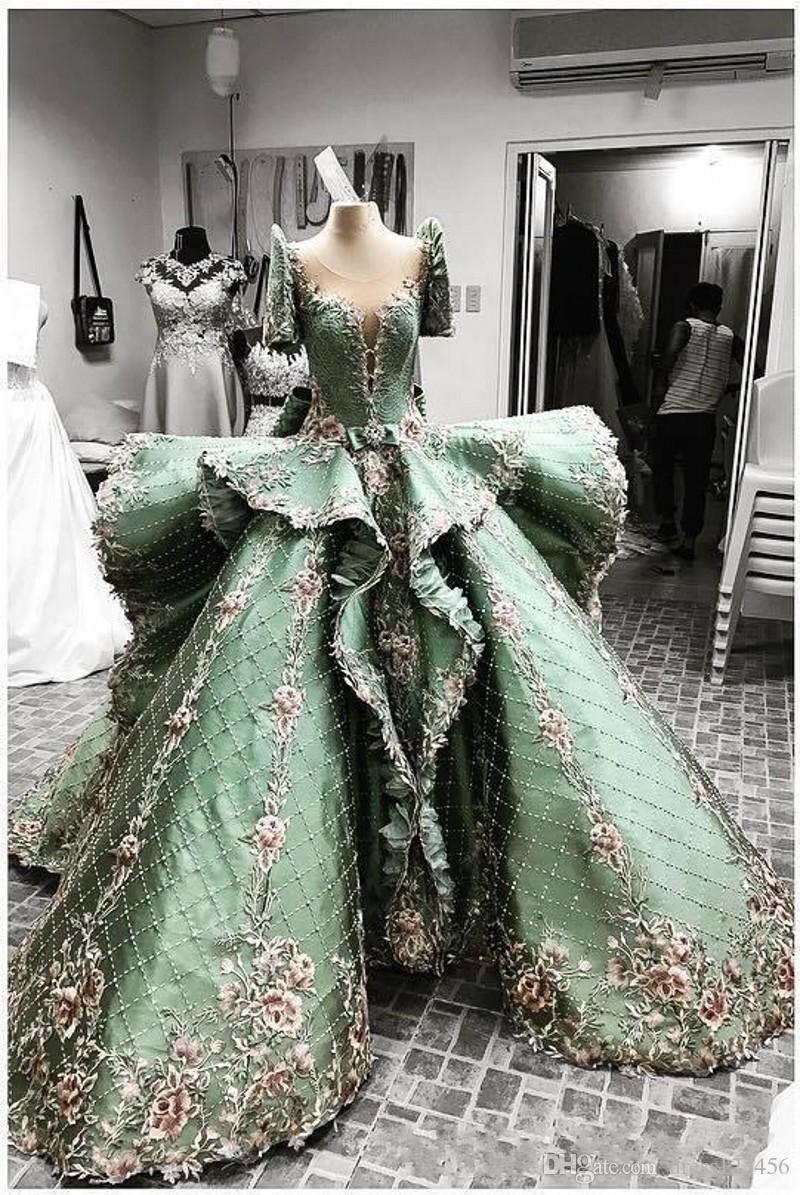 2019 New Zuhair Murad Abendkleider Sexy Jewel Applique A-Line bodenlangen Abendkleider 071