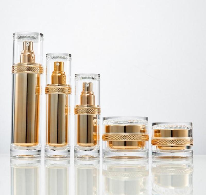 30 ز 50G عالية الجودة مستحضرات التجميل جرة فارغة / واضح زجاجة الاكريليك الكريمات الجرار / زجاجة زجاج الاكريليك زجاجة محلول الحاويات