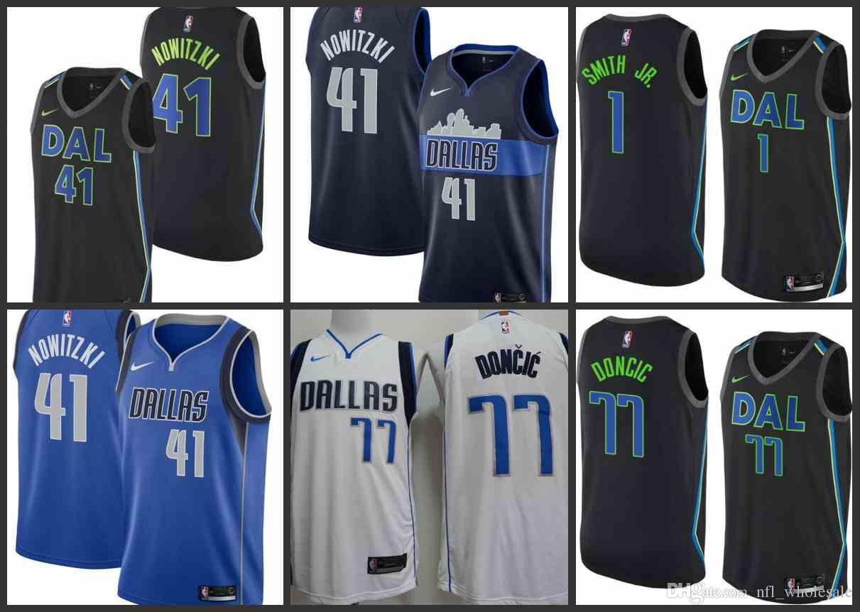 pretty nice 2f45d 991bb 2018 2018 19 New Urban Version Dallas Men Mavericks Jersey #77 Luka Doncic  41 Dirk Nowitzki 1 Dennis Smith Suture Jerseys From Outletnfl_jerseys, ...