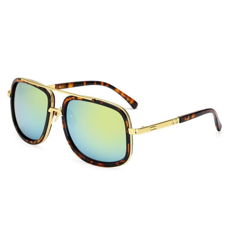 2020 Lentes de sol de alta calidad del metal Bisagra gafas de sol de los hombres Gafas de sol de las mujeres Vidrios de lujo gafas de sol gafas de lujo