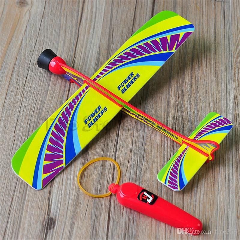 Flying Aircraft Toys Shoot Airplane Toy Kids aunch Aircraft Model Toys Gift Outdoor Hand Throw Foam Glider Airplane Inertial Toy