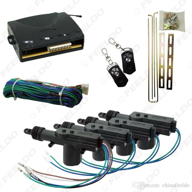 Carro de 4 portas Remote Central Bloqueio Keyless Entry SystemRemote Kit de bloqueio central e é um kit completo, é um sistema de entrada sem chave para 4 # 1278