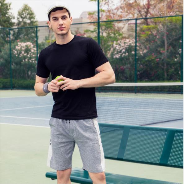Moda Tasarımcısı Basit Kapşonlu Gevşek Giyim Yaz Nefes Casual Mens 2adet Kısa kollu Spor Takımları Erkek