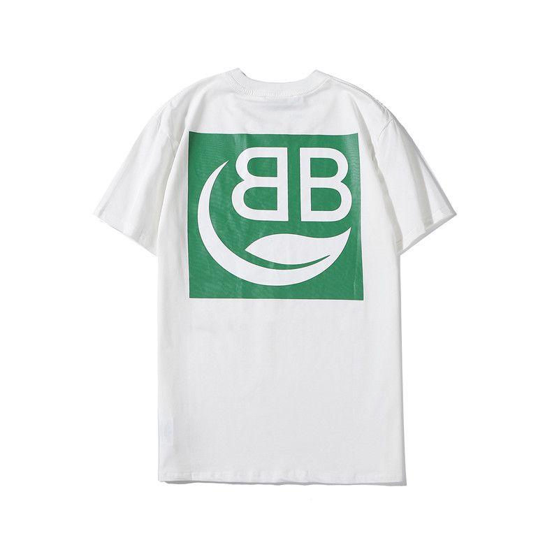 Luxury Men Shirts New Designer Brand T-shirt 2020 Spring Short Sleeve Mens Top Tees Letter Print Fashion Streetwear B102427K