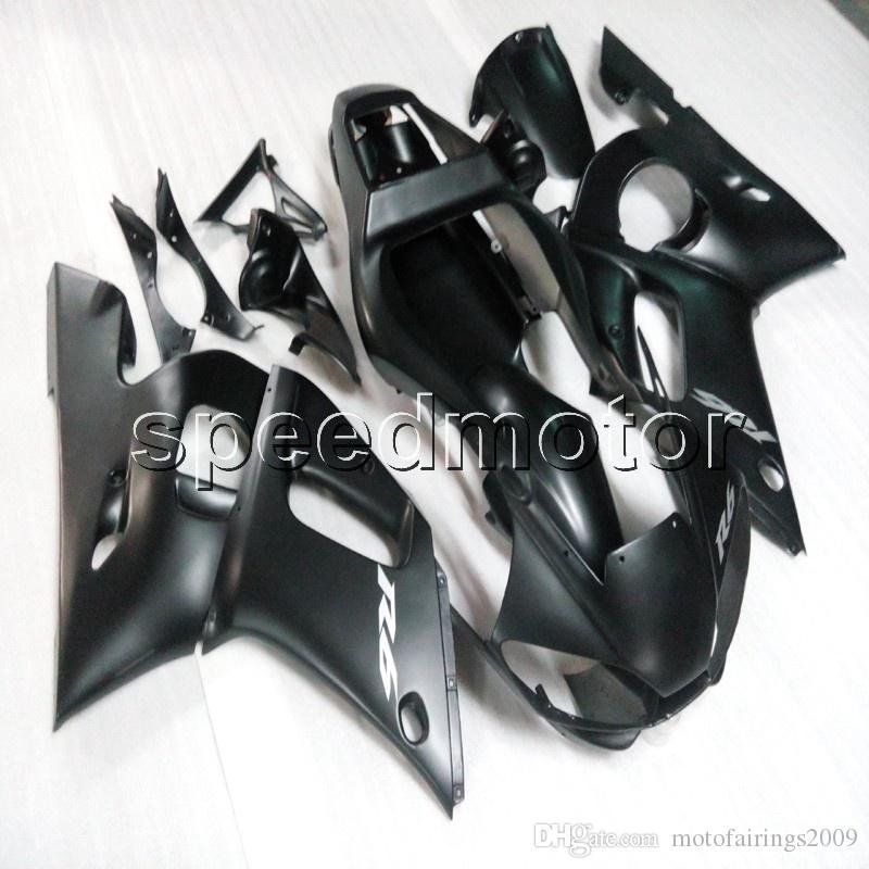 Custom + Tornillos + artículo Carcasa de motocicleta ABS negro brillante mate para Yamaha YZF-R6 1998 1999 2000 2001 2002 Paneles del motor del kit de carrocería
