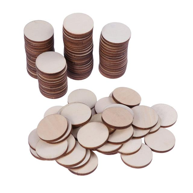 rts, & Sewing DIY Crafts 100pcs Diy Crafts Materials Unfinished Natural Round Wood Slices Circles Discs Wood Ornaments Wedding Party...
