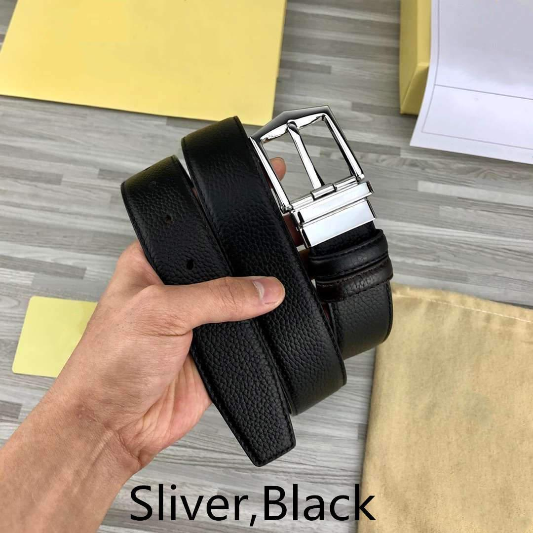 B Caballero Cinturones de diseño de lujo marca de la correa para hombre Cinturones mujer B hebilla de la aguja 4 Modelo opcional de 34 mm Anchura de la correa de calidad superior con la caja