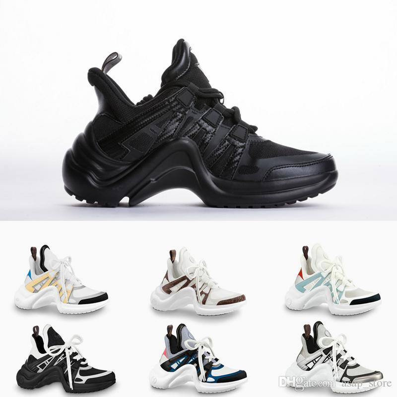 2018 Designer Black Casual Shoes White