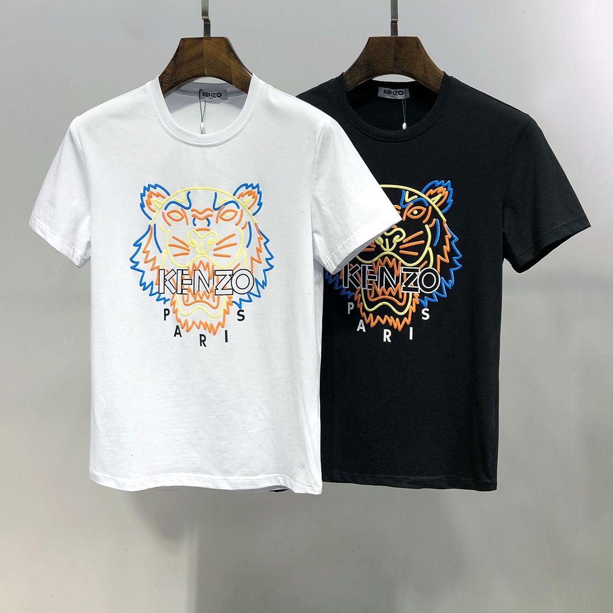Herren T-Shirt Art und Weise beiläufige Tendenz der Größe M-3XL Komfortable atmungs WSJ042 # 111548lucky04