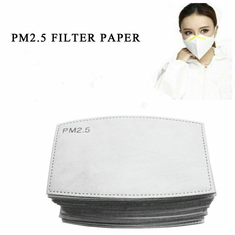 PM2.5 filtro per Mask Anti Haze bocca maschera sostituibile Filtro Pad 5 strati del filtro a carbone attivo Maschere viso Inserire CCA12001 300pcs