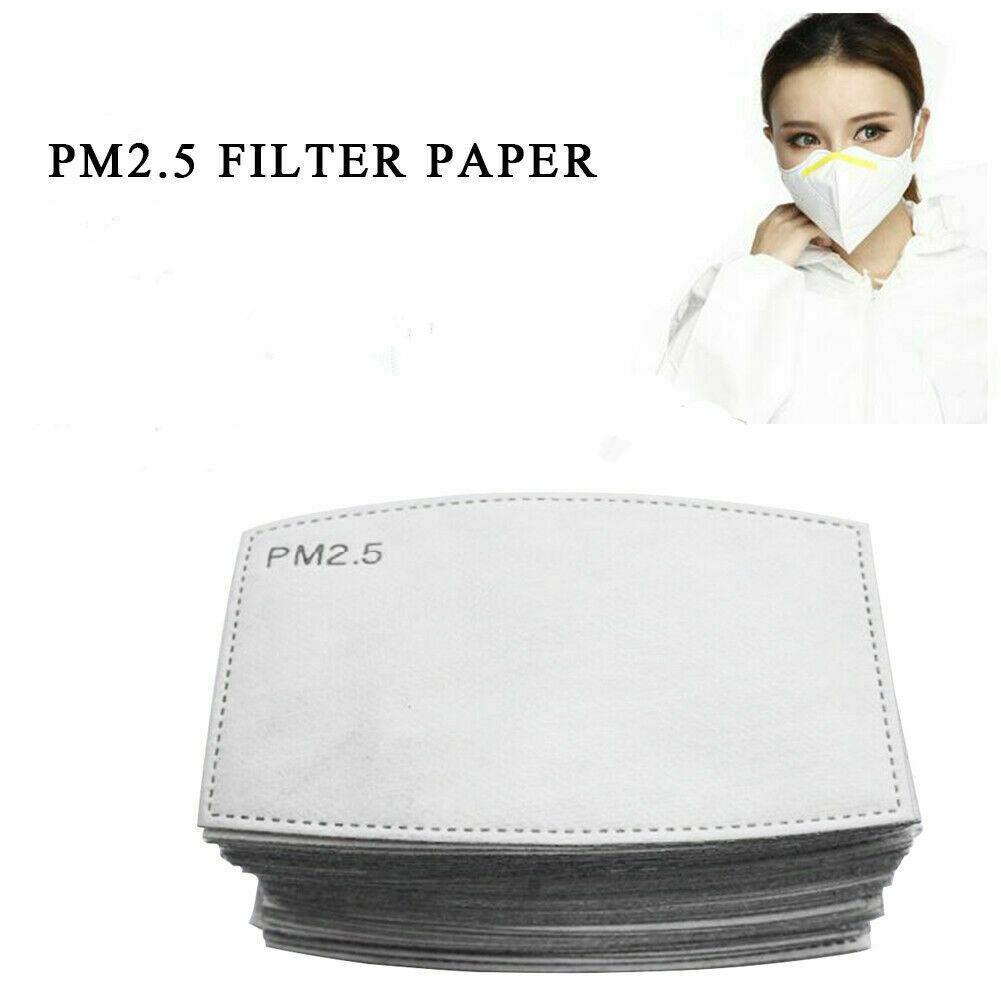 РМ2,5 Фильтр для маски против Haze Mouth маска Сменная фильтра Pad 5 слоев фильтра с активированным углем для лица Маски Вставка CCA12001 300pcs