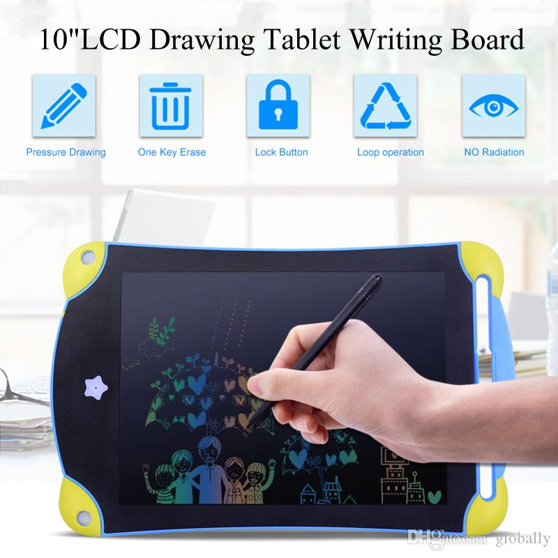 8,5 pulgadas Diseño LCD colorido Almohadilla de Escritura Mini Tableta de Escritura Electrónica Tablero de Dibujo Gráfico Niños Escribiendo Juguetes