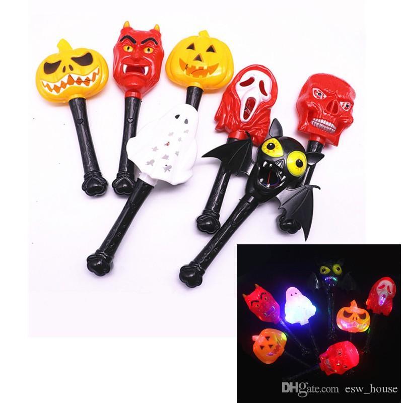 할로윈 Luminous Magic Wand Kids 호러 호박 마녀 Ghost 악마 소품 할로윈 자 코스프레 LED Toys